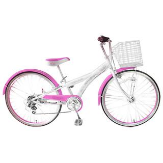 24インチ 自転車(フレーム 曲&直 )